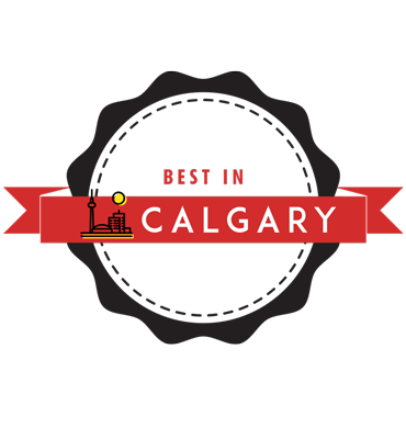 Black and red 'Best in Calgary' Badge
