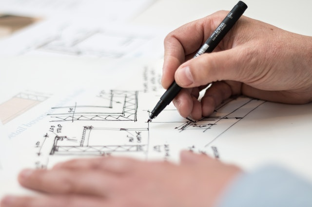 Blueprint that has an error. Architect needs Professional Liability Insurance