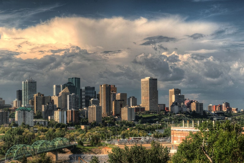 Small Business Insurance in Edmonton. City view.