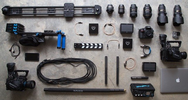 Various Photography equipment representing what can be saved by having photography insurance and equipment coverage